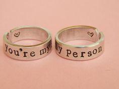 You're My Person Aluminum Rings Set Grey's par FamilyHouseStampin