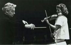 Herbert von Karajan and Anne-Sophie Mutter 1978