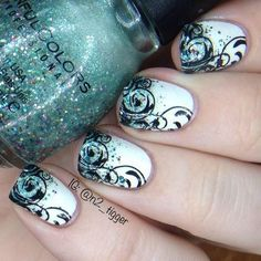 decoracion de uñas con glitter