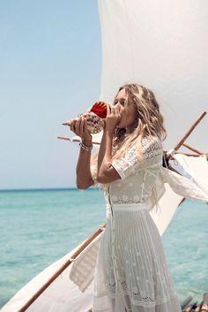 A perfect white summer dress