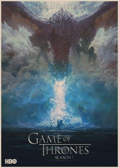 Game of Throne Posters The End Begins Prints Retro Style Wall Stickers Home Decoration Abooly Brand