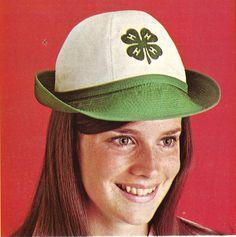 Retro! 4-H Women's Crew Cap from 1970 Catalog.