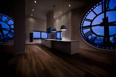 Clock tower penthouse in Brooklyn, New York. Almost worth living in Brooklyn . World's Most Beautiful, Beautiful Space, Beautiful Homes, Tower Apartment, Penthouse Apartment, Dream Apartment, Apartment Lighting, Brooklyn Apartment, Apartment Kitchen