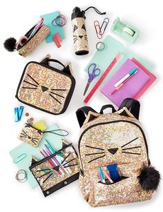 shine all year long! back to school 2017 at ju Justice School Supplies, Cute School Supplies, Justice Accessories, School Accessories, Cute Backpacks, Girl Backpacks, Mini Things, Girly Things, Justice Backpacks