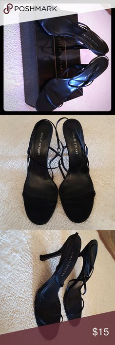 Women's Colin Stuart Black Strappy Heels These shoes are light-weight and feel great on your feet! Made of leather and purchased from Victoria's Secret. Worn only a couple times and in good condition. Heels are not too high. Shoes Heels