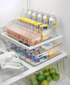 Fridge Binz $6.99 to $16.99. Replace bottom fridge bins with more transparent bins. Remember to measure.