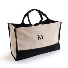 More - Personalized Metro Tote 'Em Bag. Personalized Metro Tote 'Em BagThis attractive and sturdy personalized tote bag can haul just about anything, from personal items and office supplies to your favorite p Personalized Tote Bags, Monogram Tote Bags, Personalised Canvas, Canvas Tote Bags, Personalized Wedding, Tan Tote Bag, Summer Tote Bags, Day Bag, Office Supplies