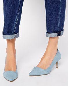 ASOS SOUVENIRA Pointed Heels at ASOS. Blue Wedding Shoes, Wedding Shoes Heels, Asos, Blue High Heels, Pointed Heels, All About Shoes, Formal Shoes, Me Too Shoes, Fashion Shoes