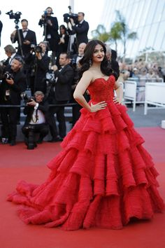 Aishwarya Rai in Ralph & Russo Couture at the 2017 Cannes Film Festival