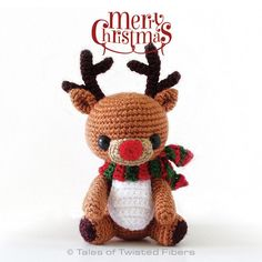 Christmas is only about a month away. So who gets an early Christmas gift? YOU! :D And my gift to you is this super cute free amigurumi pattern for Rudy, the reindeer. :)  Made with sock weight yarn and 2.5 mm hook, Rudy is around 4.5 inches tall. As the pattern only uses basic stitches (if you know how to make a magic ring, single crochet stitch, increase and decrease, you're set to go!) and is relatively quick to make, this amigurumi will make a great Christmas project.