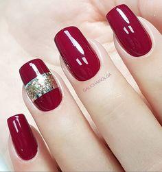Bright fashion nails, brilliant nails, Glitter nails, Long nails, Maroon nails, Nails trends 2018, Plain nails, Spring nails 2018