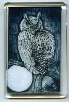 Owl Fridge Magnet #wicca