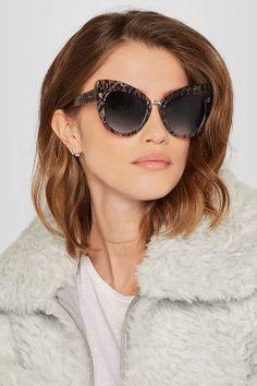 Stella McCartney - Cat-eye Leopard-print Acetate Sunglasses - Brown - One size Cool Sunglasses, Round Sunglasses, Top Designer Brands, Designer Shoes, Maria Tash Earrings, Kimberly Lee, Stella Mccartney Sunglasses, Brown Cat, Catio