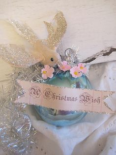Modify for family, friends & guest to write their Christmas wish Christmas Ornaments To Make, Noel Christmas, Victorian Christmas, Pink Christmas, Christmas Balls, Christmas Projects, Handmade Christmas, Holiday Crafts, Christmas Decorations