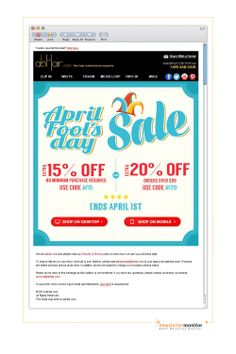 Brand: abHair.com   Subject: No Joke - Crazy April Fool's Day Sale You Can't Miss!
