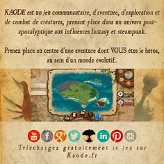 Flyers  #Kaode #fancytreestudio #indigame #rpg #videogame #french #jeuxvideo #livrejeu #livrejeux #gamebook #steampunk #postapo #postapocalyptic #fantasy #combat #collection #creature #flyer #communication