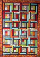 """""""Whatever,"""" made from 10"""" squares. Warped Spinster"""