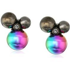 "Diane von Furstenberg ""Rainbow Rocks"" Rainbow Ball Cluster Stud... (£14) ❤ liked on Polyvore featuring jewelry, earrings, studded jewelry, rock jewelry, diane von furstenberg, cluster stud earrings and rainbow jewelry"