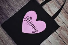 Nanny Gifts, Grandma Gifts, Babysitter Gifts, Ny Life, Heat Transfer Vinyl, You Bag, Cotton Canvas, Purple, Pink