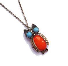 Orange Bellied Owl Necklace £4.50