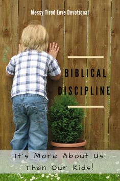 Providing Biblical discipline for children is critical to bringing them up in Christ. Here's the secret: discipline is more about us than the kids!