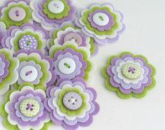 GRACE Handmade Felt Flower Embellishments by chocolatecupcake