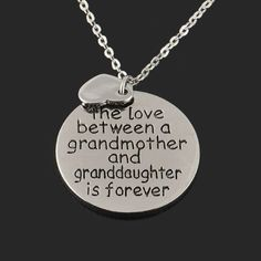 Necklaces - Love Between Grandmother And Granddaughter Pendant Necklace
