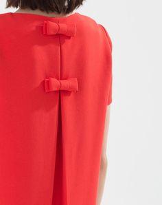 Robe rouge en crêpe Tokyo Robes 1-2-3.fr