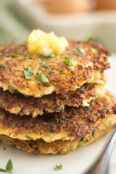 Smoked Bacon Cauliflower Rostis | thehealthyfoodie.com