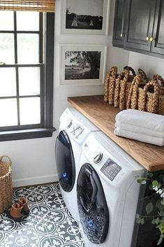 Teeny Tiny Laundry Room Inspiration for the teeny tiny laundry room owner Just because it s a closet doesn t mean it can t be both functional and pretty Pedestal Sink Storage, Laundry Room Design, Stacked Washer Dryer, Picture Design, Very Well, Online Shopping, Home Appliances, Style Inspiration, Blog