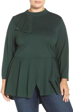 Melissa McCarthy Seven7 Flounce Peplum Top (Plus Size) available at #Nordstrom