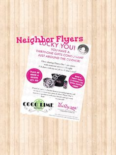 Great Idea - Neighbor Flyer - Printable - Thirty One