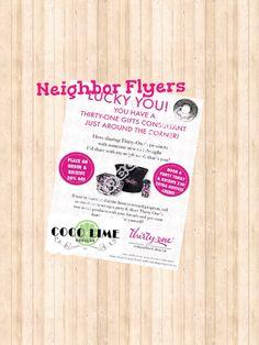 Great Idea - Neighbor Flyer -  Printable - Thirty One