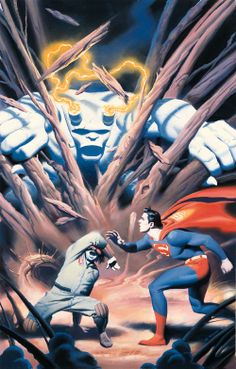 """travisellisor: """"the cover to Legends of the DC Universe by Steve Rude """" Comic Book Artists, Comic Artist, Comic Books Art, Bruce Timm, Cartoon Sketches, Dc Comics Art, Book Images, Man Of Steel, Art Pages"""