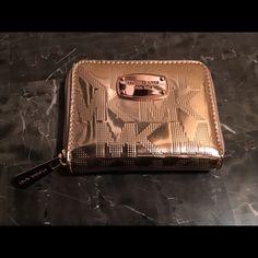MK ROSE GOLD WALLET Rose gold authentic MK WALLET Michael Kors Bags Wallets