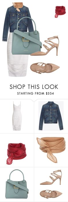 """Untitled #115"" by asena-cakmak on Polyvore featuring Versace, Yves Saint Laurent, Burberry and Gianvito Rossi"