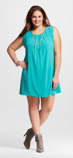 Plus Size Sleeveless Shift Dress