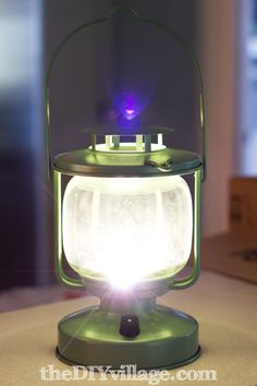 DIY Cordless LED Lantern - Would love to do this for the boys' room and to use for those fort playing nights