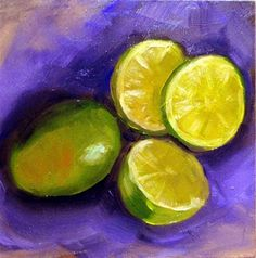 "Daily Paintworks - ""Limes"" by Cietha Wilson"