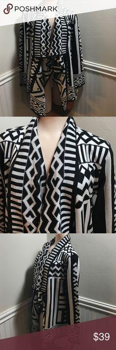 Bar lll Aztec Flyaway Cardigan. B037 Bar lll Aztec Flyaway Cardigan. 100% acrylic. Long sleeve. Soft fabric sweater. High quality. Bar III Sweaters Cardigans