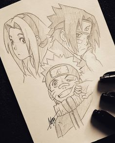 "Sketch of "" Team 7 "" 😄 Uzumaki Naruto 🐺, Haruno Sakura 🌸, Uchiha Sasuke. Naruto Drawings, Sasuke Drawing, Naruto Sketch, Anime Drawings Sketches, Anime Sketch, Anime Naruto, Naruto Vs, Naruto Sasuke Sakura, Naruto Shippuden Anime"