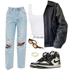 Swag Outfits For Girls, Teen Fashion Outfits, Teenager Outfits, Dope Outfits, Cute Casual Outfits, Look Fashion, New Outfits, Korean Fashion, Polyvore Outfits Casual