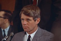 . Senator Robert F. Kennedy (D-NY) is shown during a news conference at the Overseas Press Club  in New York, Feb. 1, 1968. (AP Photo)