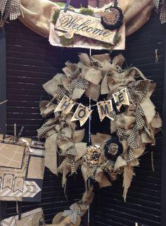 Shabby Burlap Wreath...