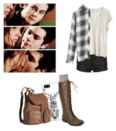 """""""Malia tate inspired outfit - teen wolf"""" by shadyannon ❤ liked on Polyvore featuring Rails, H&M, Falke and Forever 21"""
