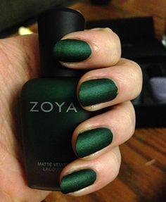 Elegant matte nails #emerald #nails
