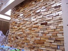 Wooden Wall Cladding, Wooden Walls, Wood Wall Design, Pallet Walls, Patio Wall, Next At Home, Textured Walls, Wood Projects, Decoration
