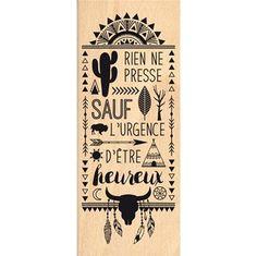 Boutique scrapbooking - Tampon Florilèges design tampon fond texte ethnique dakota
