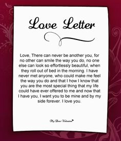 Love Letter For Her #34