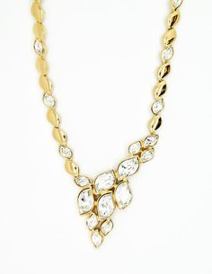 Christian Dior Vintage Cascading Rhinestone Necklace - Amarcord Vintage Fashion